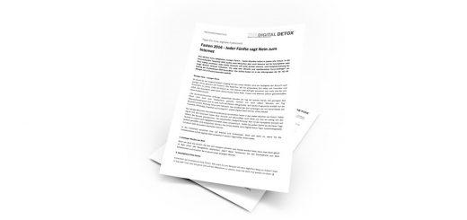 THE DIGITAL DETOX®   Presseinformation vom 09.02.2016