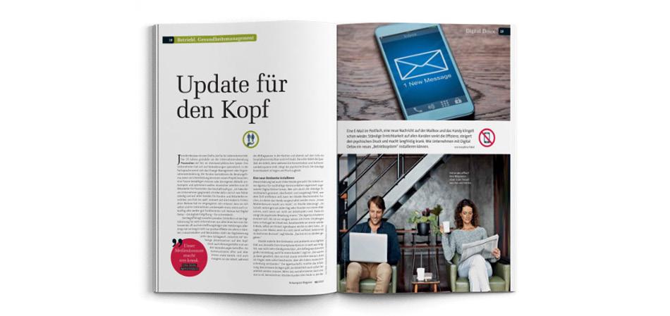 12. März 2017 | N-Kompass Magazin: Betriebliches Gesundheitsmanagement | Update für den Kopf