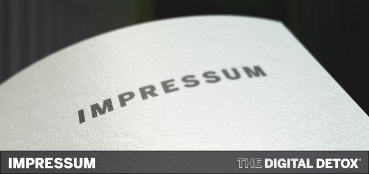 THE DIGITAL DETOX® | Impressum